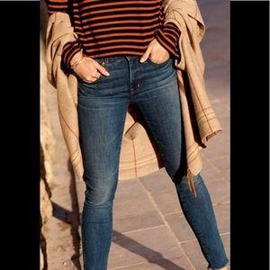 "9"" Rise Skinny Jeans in Paloma Wash: Raw-Hem"